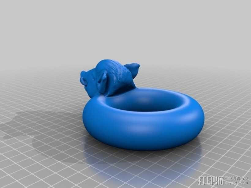 野猪游泳圈 3D模型  图2