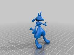 路卡利欧 3D模型