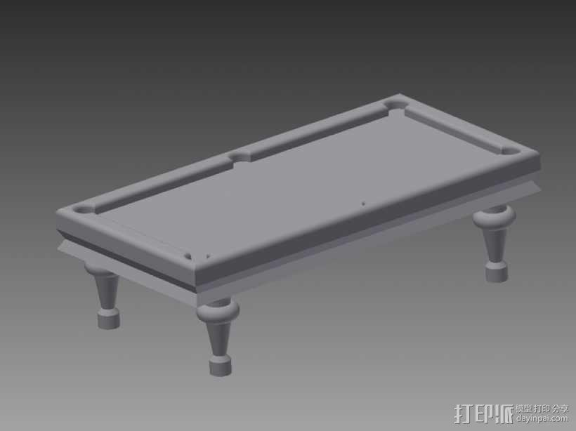 玩具台球桌 3D模型  图1