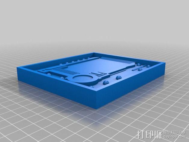 护照模具 3D模型  图2