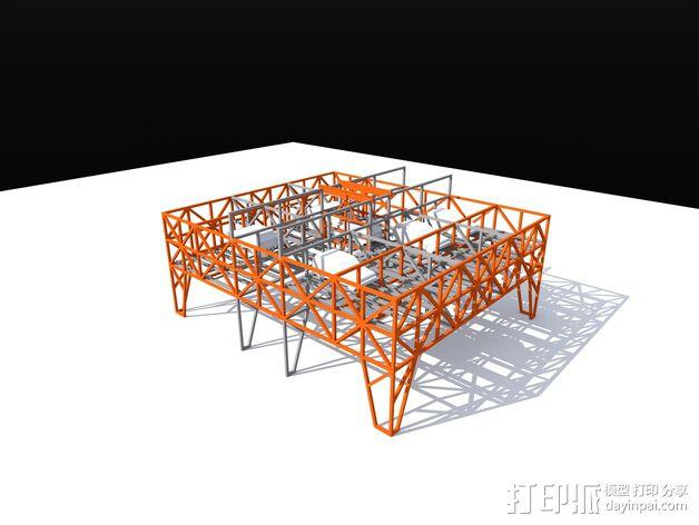 车间构架模型 3D模型  图4