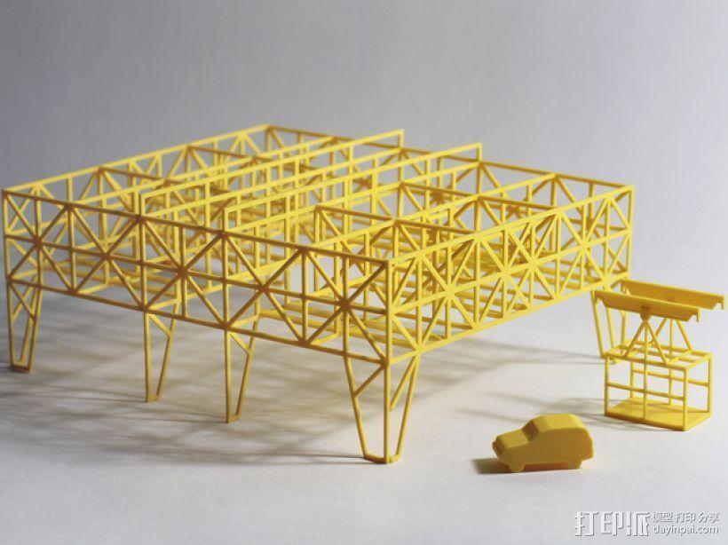 车间构架模型 3D模型  图1