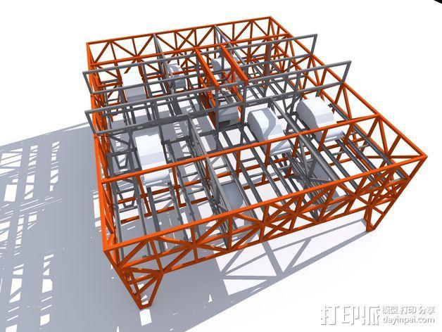 车间构架模型 3D模型  图3
