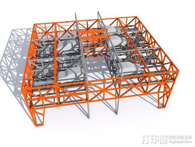 车间构架模型 3D模型  图5