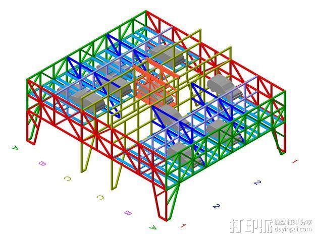车间构架模型 3D模型  图14