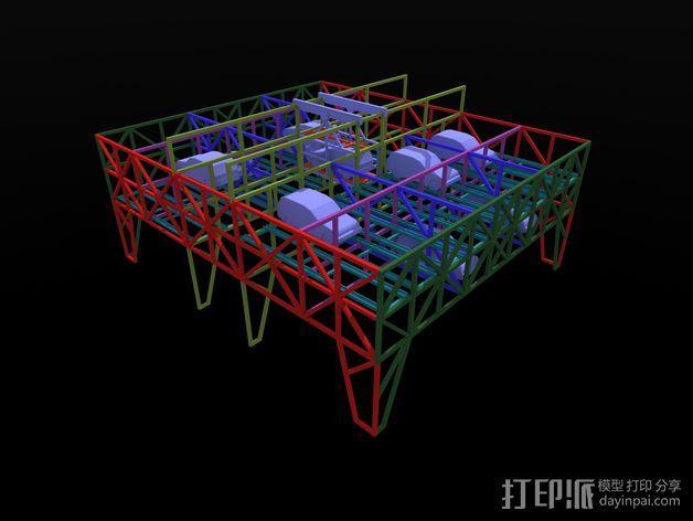车间构架模型 3D模型  图19