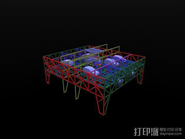 车间构架模型 3D模型  图18