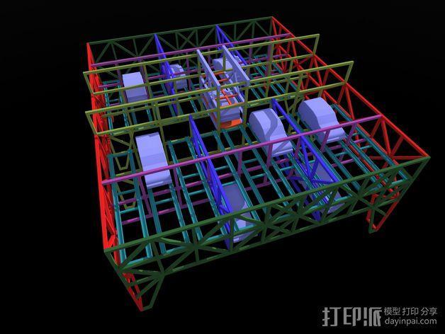 车间构架模型 3D模型  图21