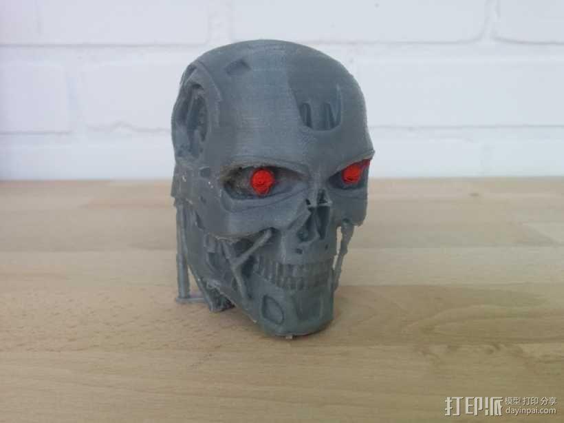 终结者头骨 3D模型  图1