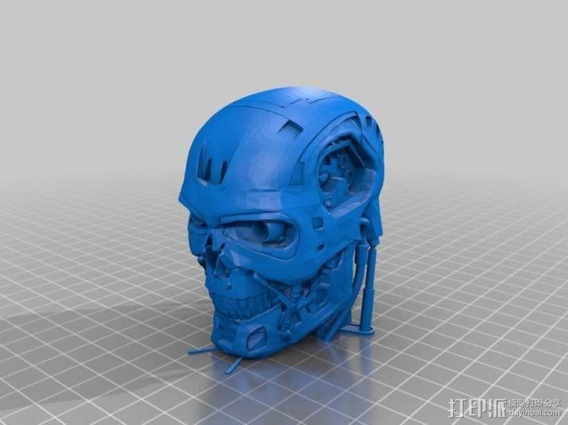 终结者头骨 3D模型  图3
