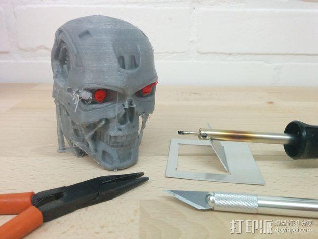 终结者头骨 3D模型  图4