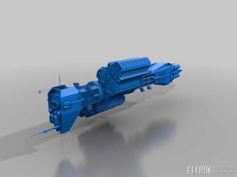 Omega 飞船 3D模型  图1