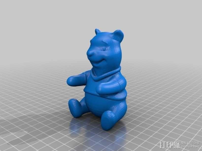 小熊维尼 3D模型  图1