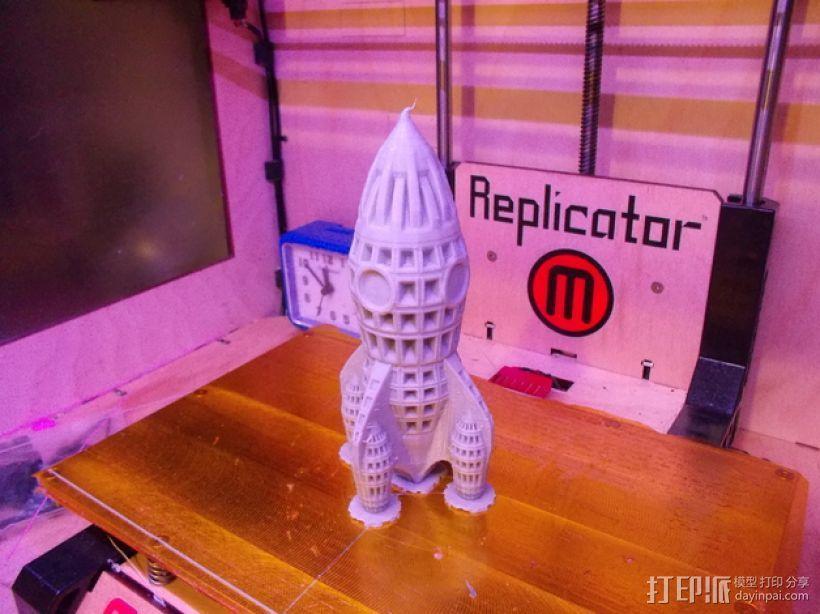 制动火箭 3D模型  图1