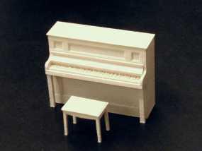 钢琴和凳子 3D模型