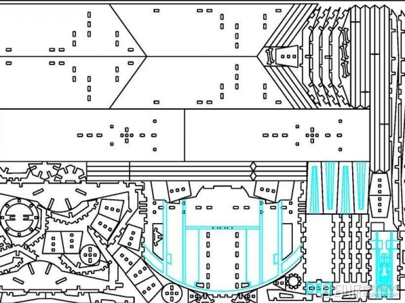 达斯维德的钛战机 3D模型  图2