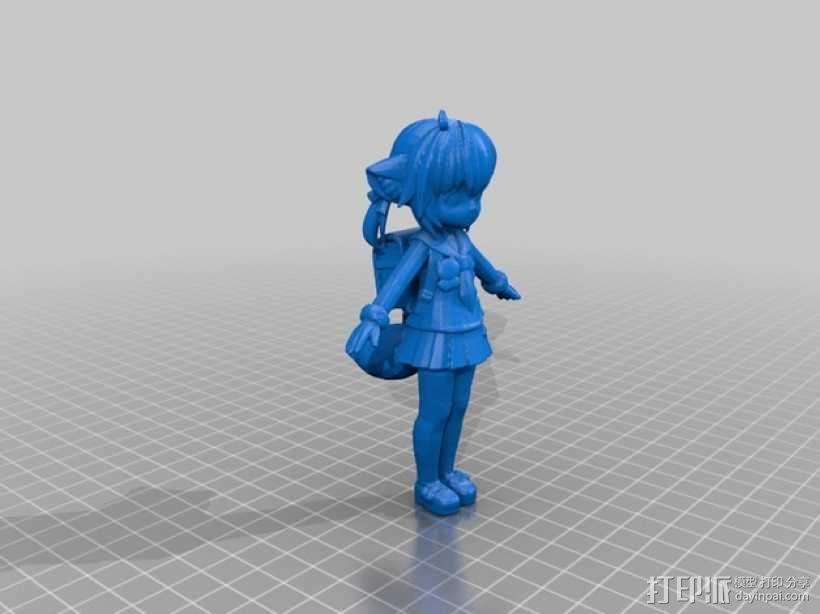 狐娘绀子 3D模型  图1