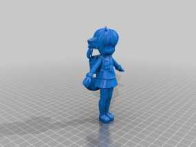 狐娘绀子 3D模型