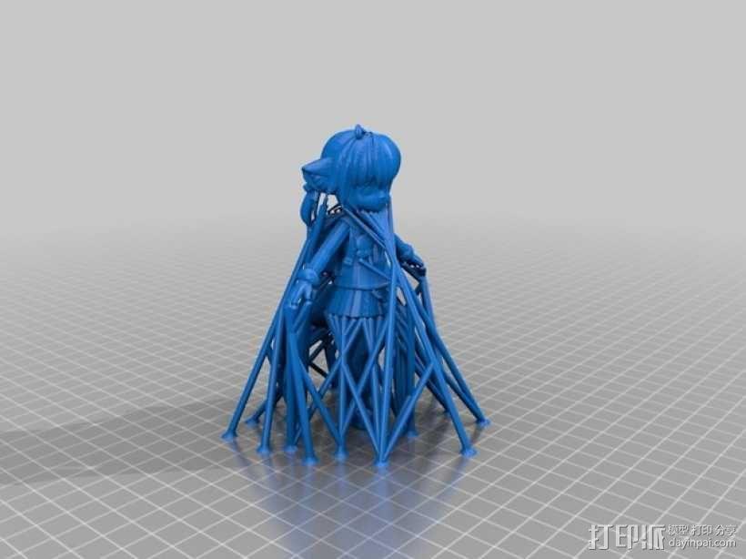 狐娘绀子 3D模型  图2