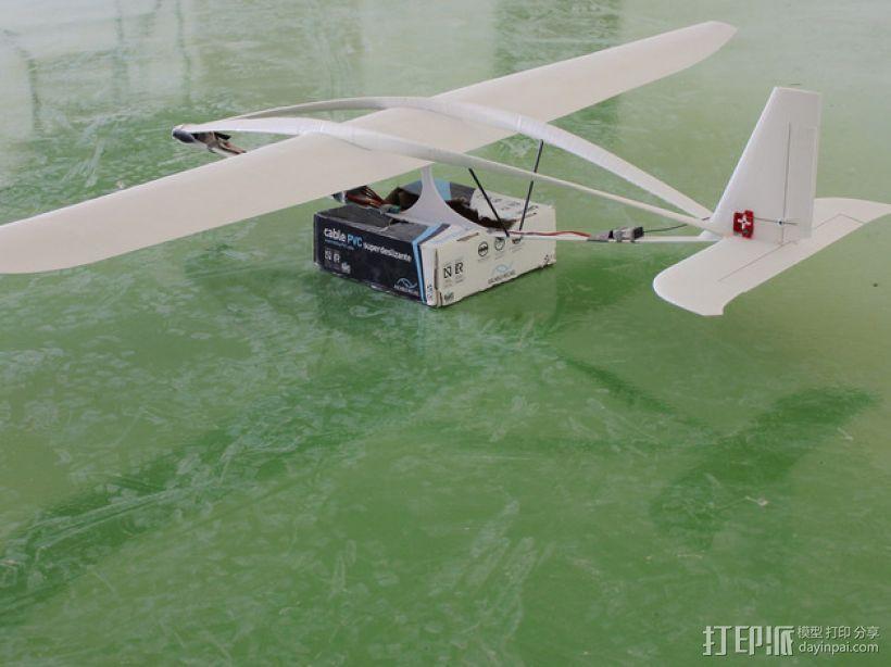 滑翔机模型 3D模型  图1