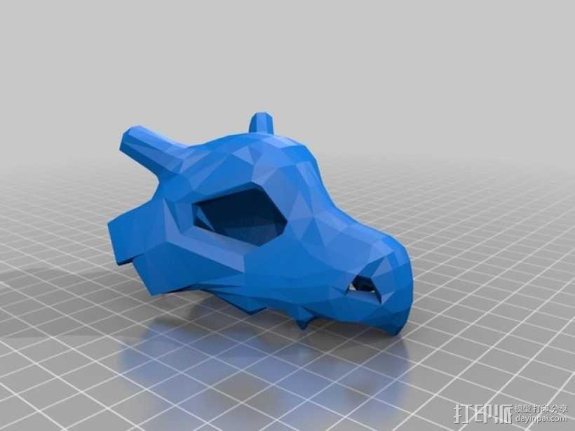 可拉可拉中空头骨 3D模型  图1