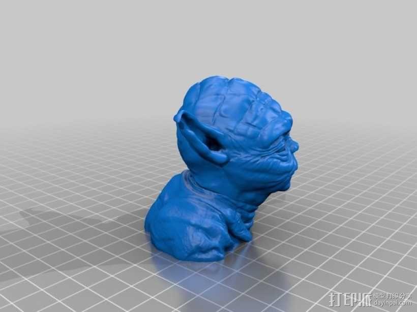 尤达大师半身像 3D模型  图2