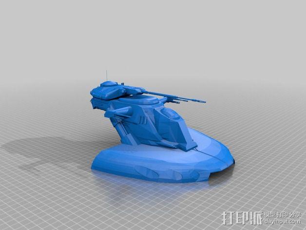AA-T装甲突击坦克 3D模型  图1
