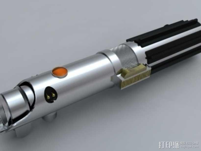 Anakin Skywalker的光剑 3D模型  图1