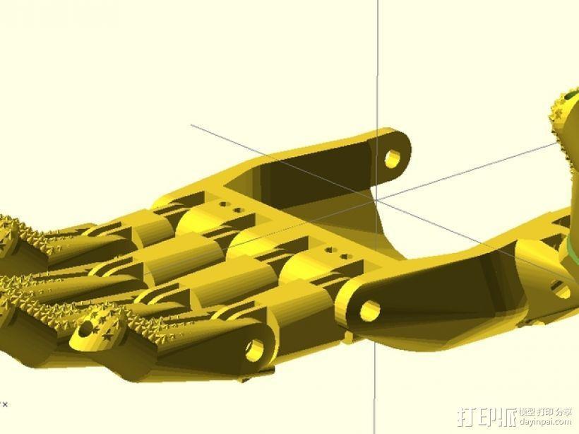 赛博人假肢 3D模型  图2