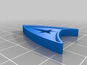 星际迷航徽章 3D模型