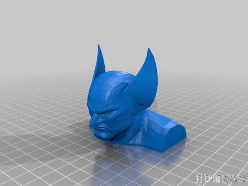 金刚狼半身像  3D模型  图1