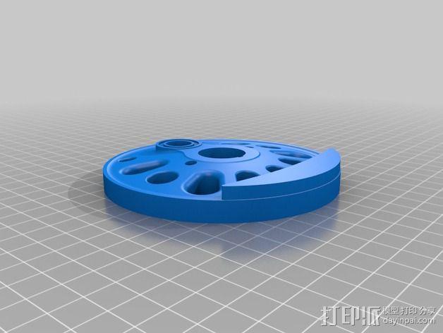 火车驱动轮 3D模型  图2