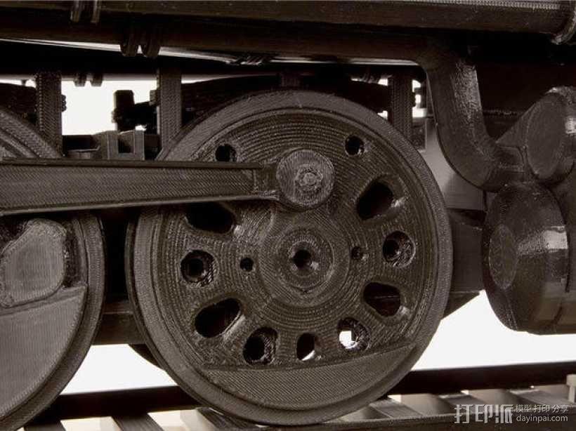 火车驱动轮 3D模型  图1