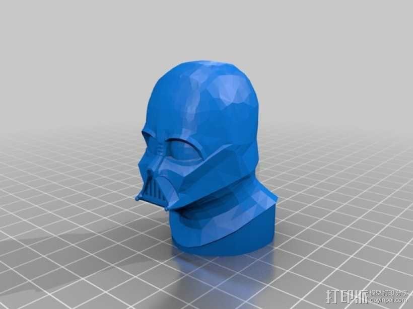 达斯维德半身像 3D模型  图1