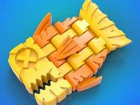 积木鱼 3D模型