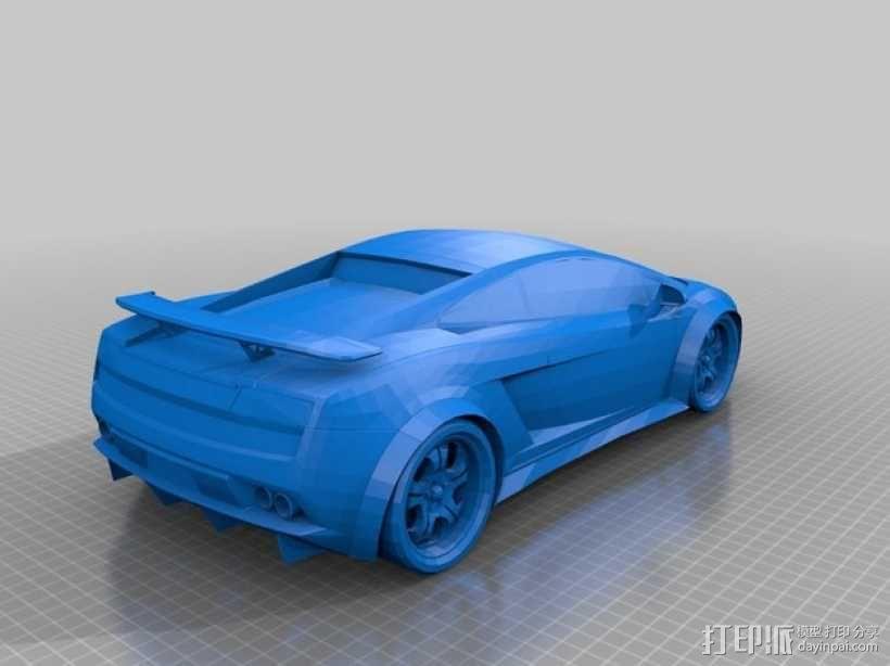 兰博基尼盖拉多跑车 3D模型  图1