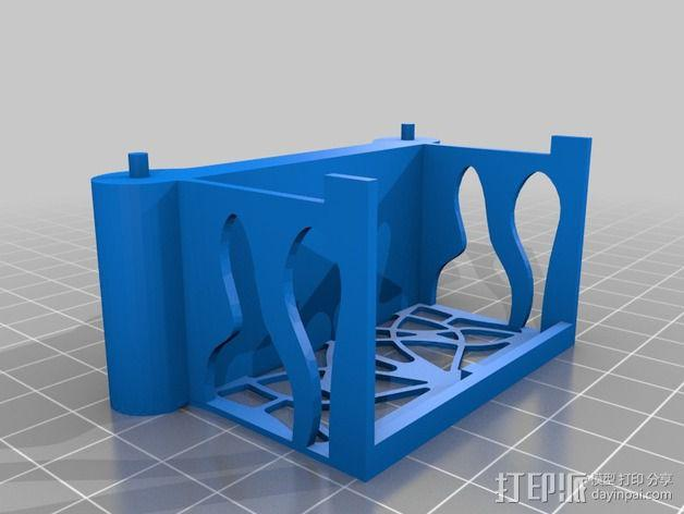 新艺术派房屋 饼干盒 3D模型  图5