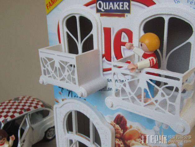 新艺术派房屋 饼干盒 3D模型  图3