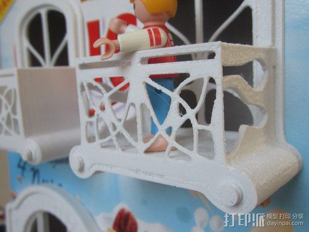 新艺术派房屋 饼干盒 3D模型  图4