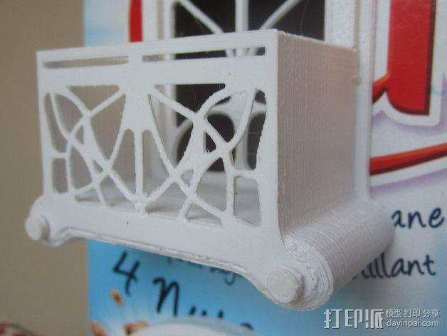 新艺术派房屋 饼干盒 3D模型  图2