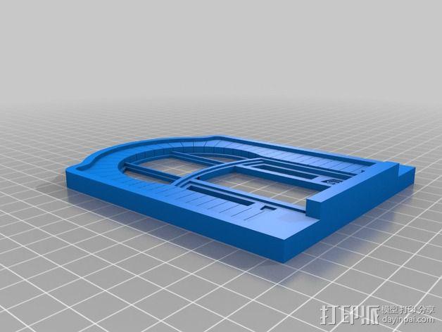 新艺术派房屋 饼干盒 3D模型  图7