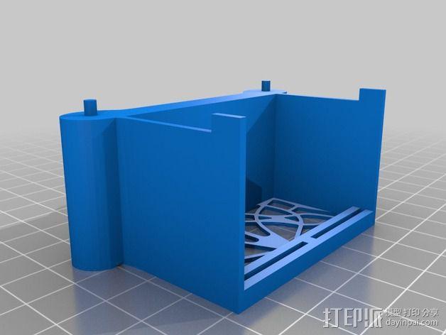 新艺术派房屋 饼干盒 3D模型  图6