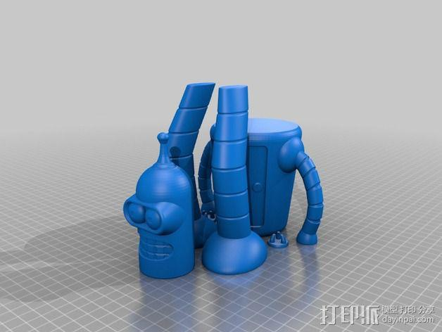 Bender机器人 3D模型  图3