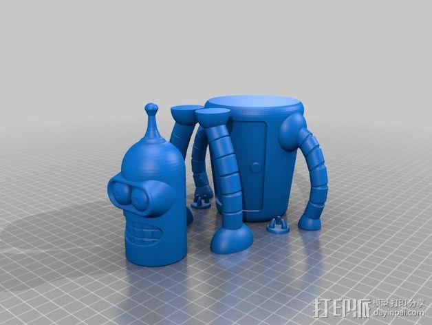 Bender机器人 3D模型  图4
