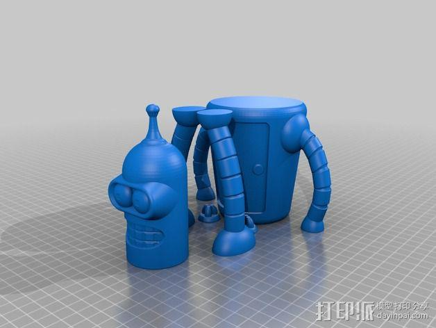 Bender机器人 3D模型  图5