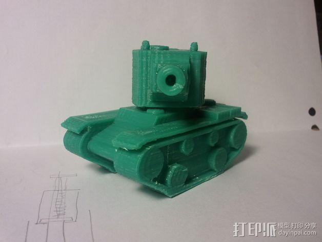 坦克模型 3D模型  图1