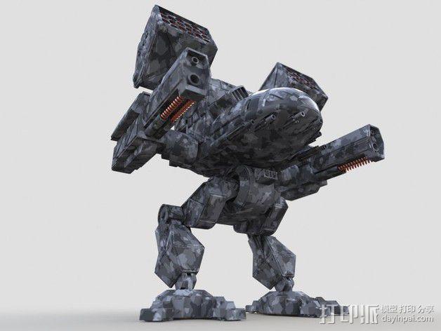 机甲战士 3D模型  图1
