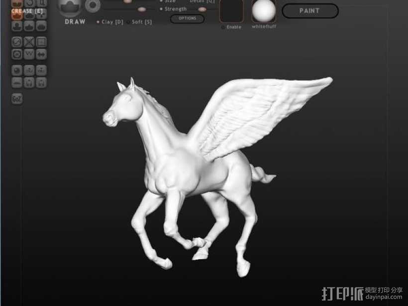 帕加索斯飞马 3D模型  图1