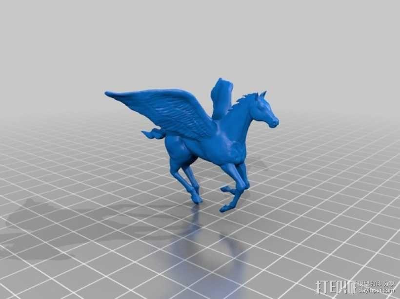帕加索斯飞马 3D模型  图2
