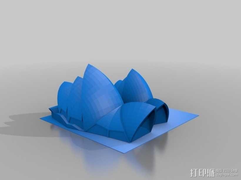 悉尼歌剧院模型 3D模型  图2